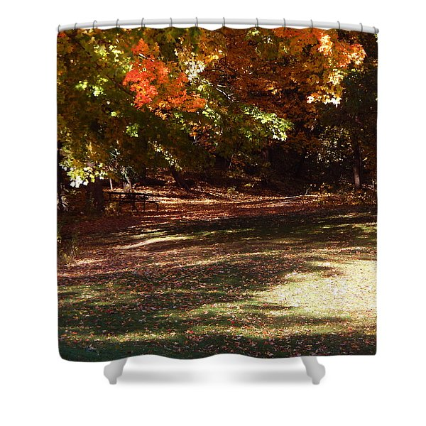 Quiet Picnic Place Shower Curtain