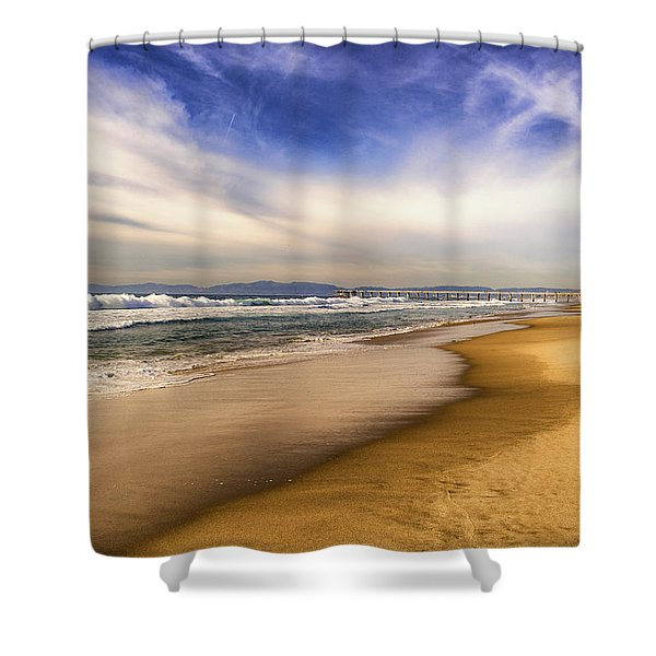 Shower Curtain featuring the photograph Quiet Reflections Of Hermosa by Michael Hope