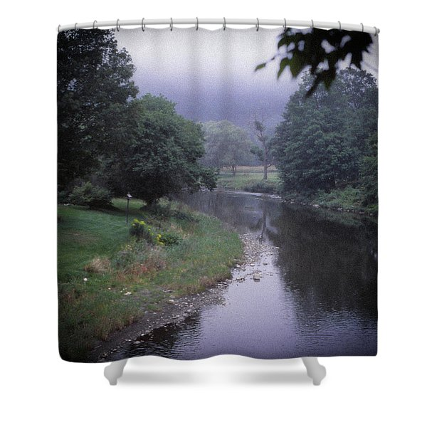 Quiet Stream- Woodstock, Vermont Shower Curtain