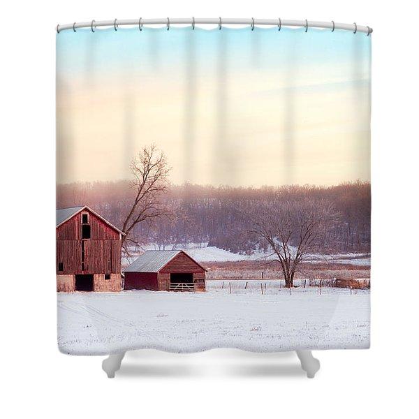 Quiet Winter Valley Shower Curtain