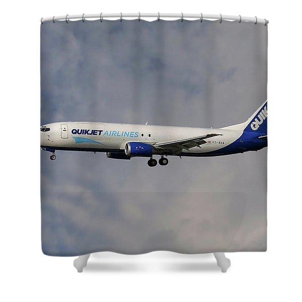 Quikjet Cargo Airlines Boeing 737-43q Shower Curtain