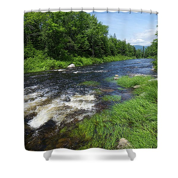 Quill Pond Brook Near Rangeley Maine  -70748 Shower Curtain