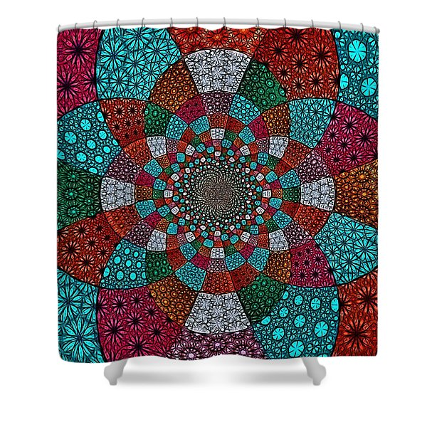 Quilted Glasswork Shower Curtain