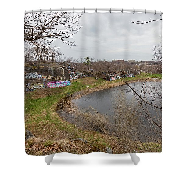 Quincy Quarries 3 Shower Curtain