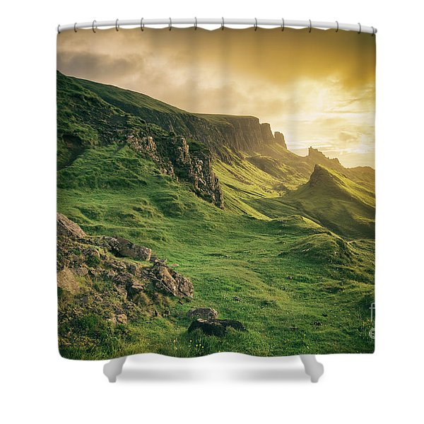 Quiraing Landscape 1 Shower Curtain
