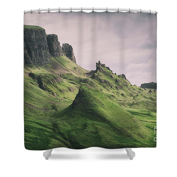 Quiraing Landscape 3 Shower Curtain