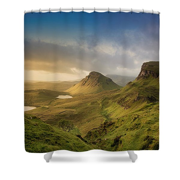 Quiraing Landscape 5 Shower Curtain
