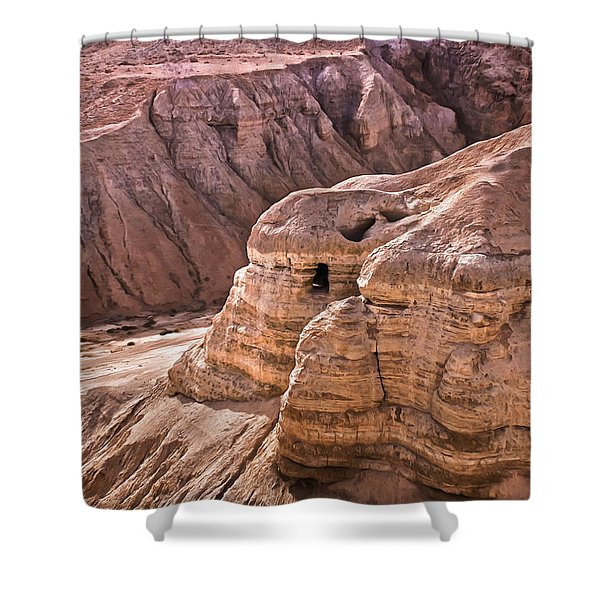 Qumran Cave 4, Israel Shower Curtain