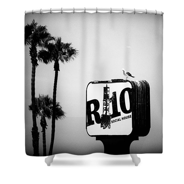 R-10 Social House Shower Curtain