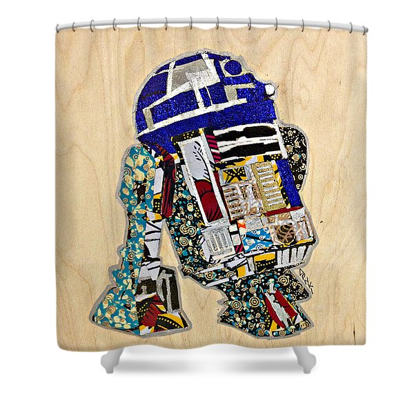 R2-d2 Star Wars Afrofuturist Collection Shower Curtain