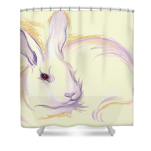 Rabbit With A Red Eye Shower Curtain