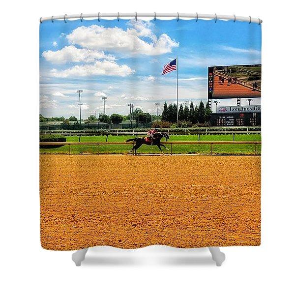 Race Day  Shower Curtain