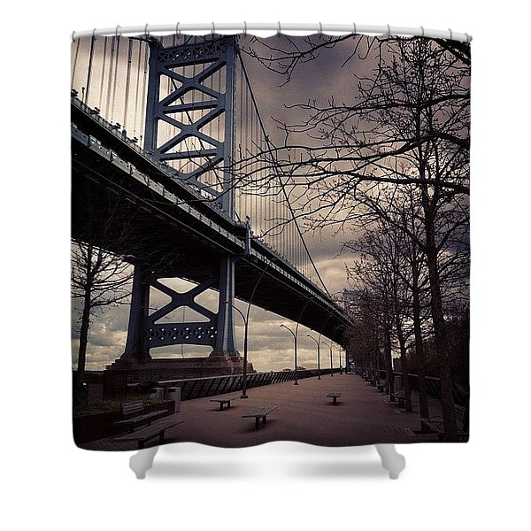 Race Street Pier Shower Curtain