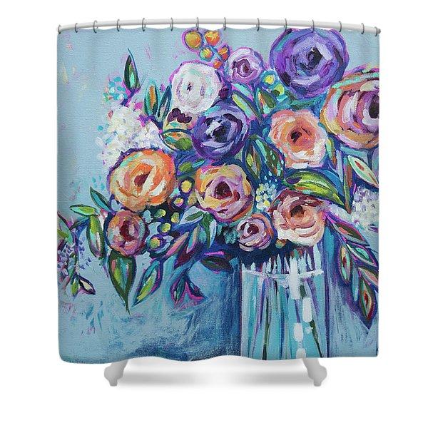 Rachael's Wedding Shower Curtain
