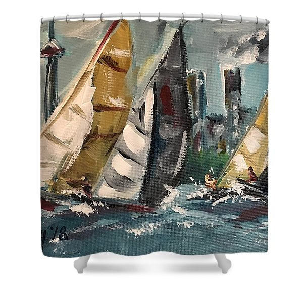 Racing Day Shower Curtain