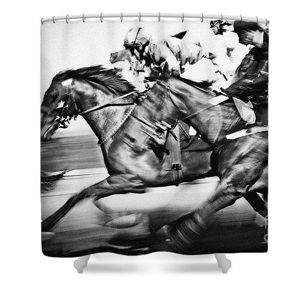 Racing Horses Shower Curtain
