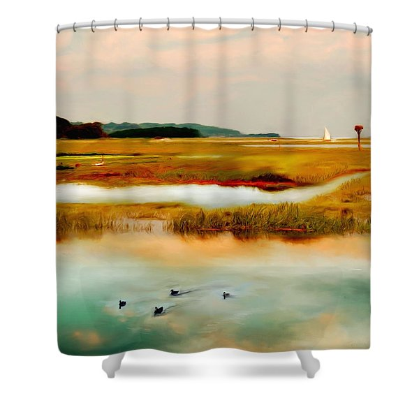 Racing The Tide Shower Curtain