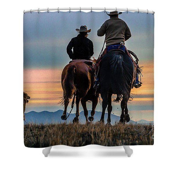 Racing To The Sun Wild West Photography Art By Kaylyn Franks Shower Curtain