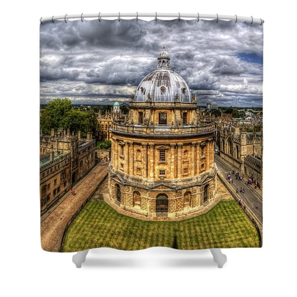 Radcliffe Camera Panorama Shower Curtain