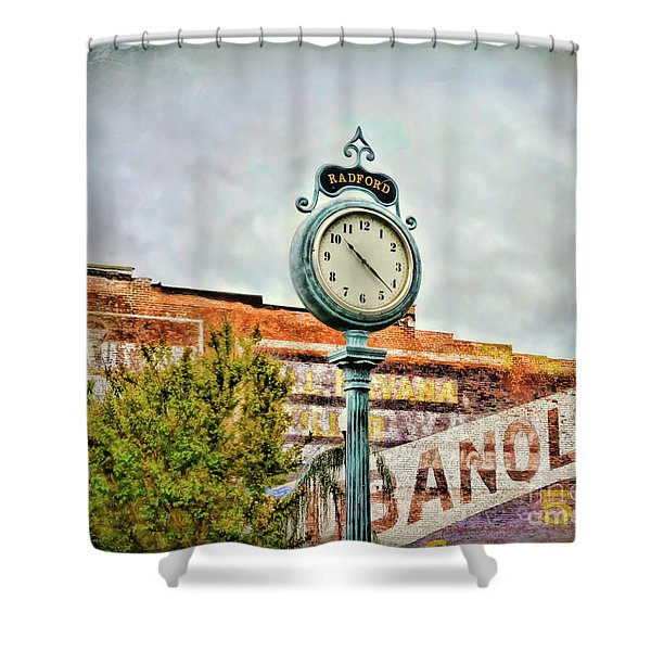 Radford Virginia - Time For A Visit Shower Curtain