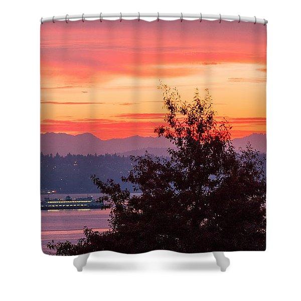 Radiance At Sunrise Shower Curtain