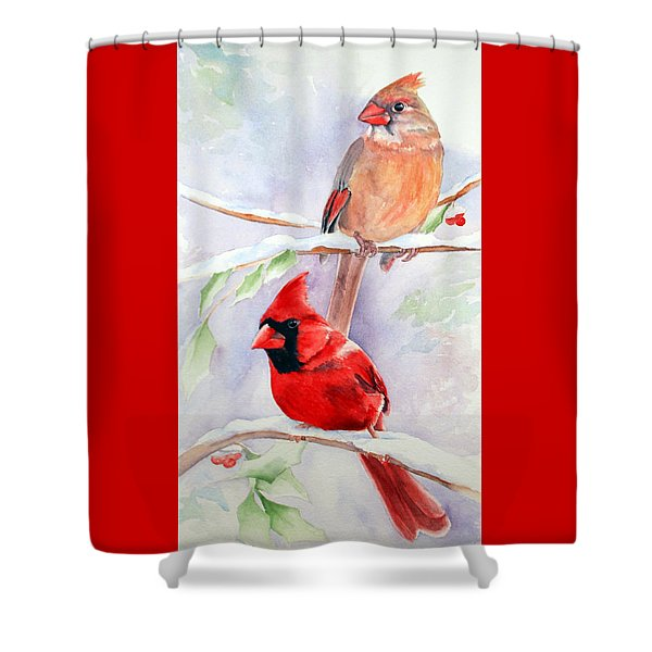 Radiance Of Cardinals Shower Curtain