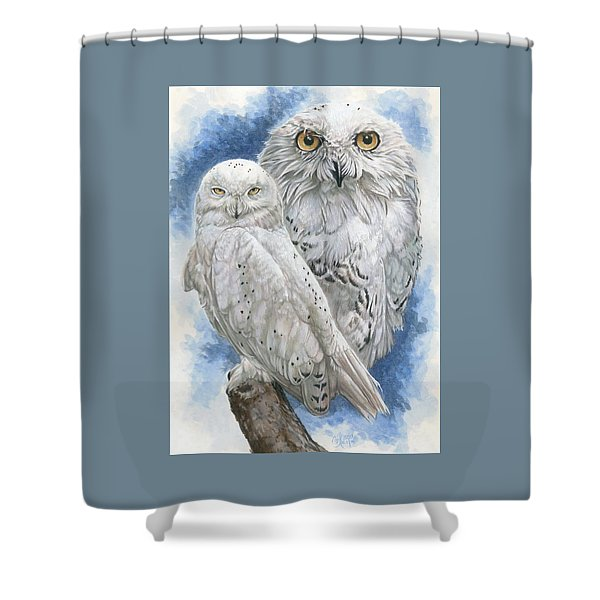 Shower Curtain featuring the mixed media Radiant by Barbara Keith