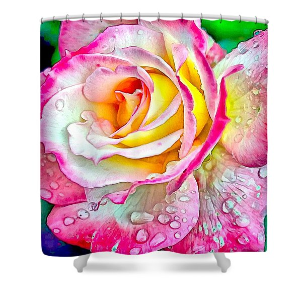 Radiant Rose Of Peace Shower Curtain
