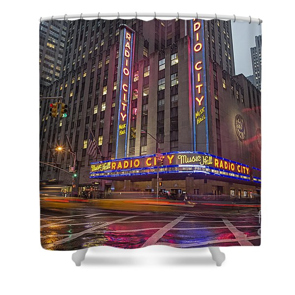 Shower Curtain featuring the photograph Radio City New York  by Juergen Held