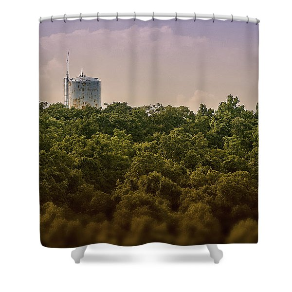 Radioactive Landscape Shower Curtain