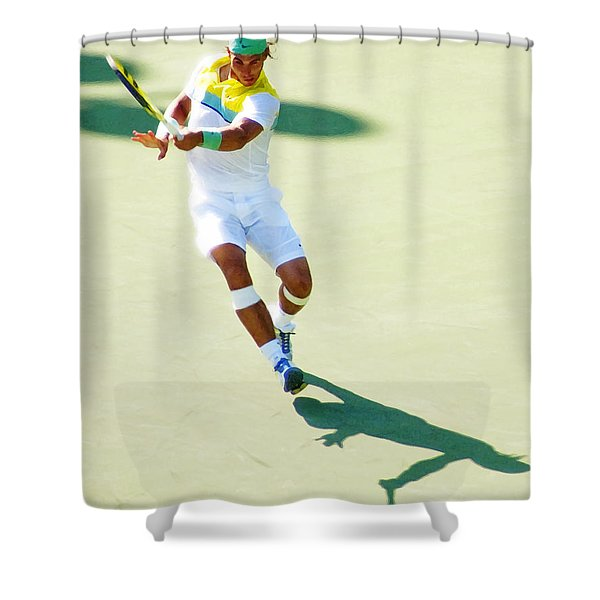 Rafael Nadal Shadow Play Shower Curtain