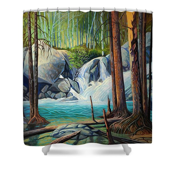 Raging Solitude Shower Curtain