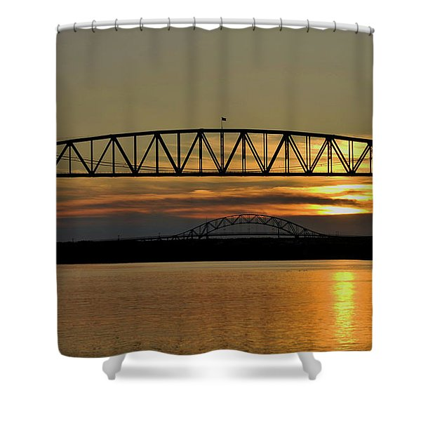 Railroad Bridge Over The Canal Shower Curtain