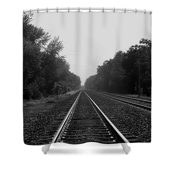 Railroad To Nowhere Shower Curtain