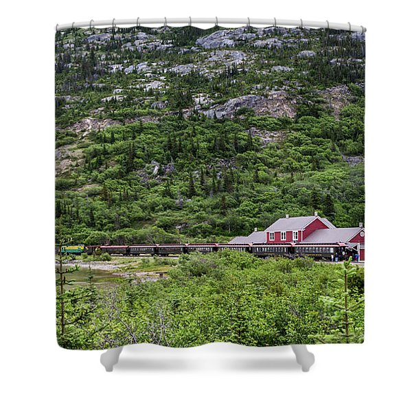 Railroad To The Yukon Shower Curtain