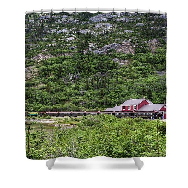 Railroad To The Yukon Shower Curtain