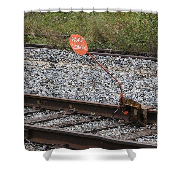 Railroad Work Limit Shower Curtain