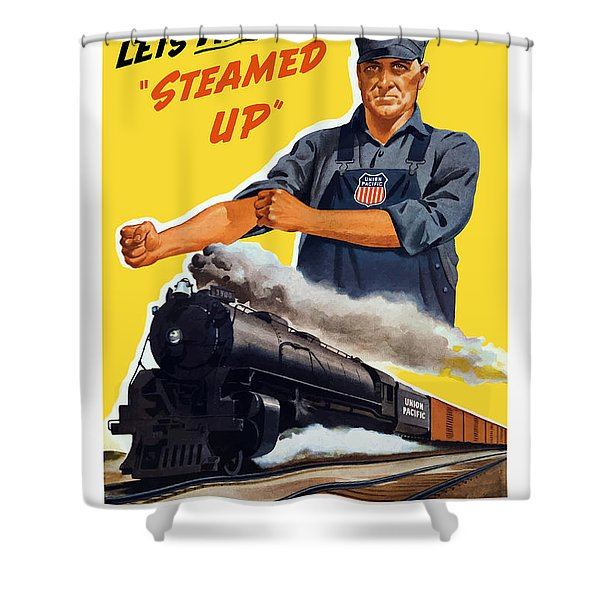 Railroads Are The First Line Of Defense Shower Curtain