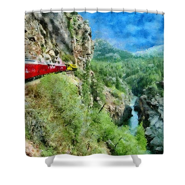 Rails Above The River Shower Curtain