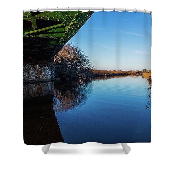 Railway Bridge Shower Curtain