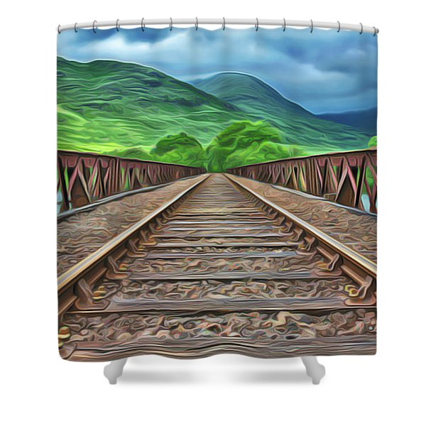 Railway Shower Curtain