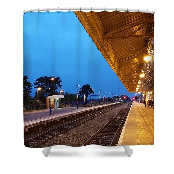 Shower Curtain featuring the photograph Railway Vanishing Point by Jeremy Hayden