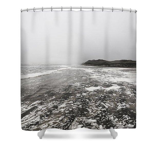 Rain Fog And Wind Seascape Shower Curtain
