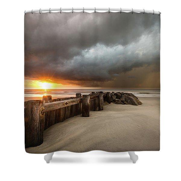 New Beginnings, Pawleys Island Sunrise Shower Curtain