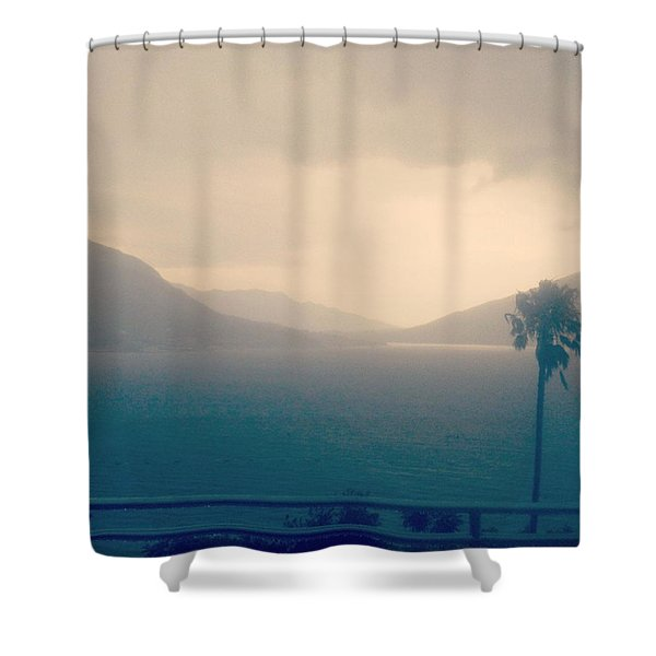 Storm Over The Sea Shower Curtain