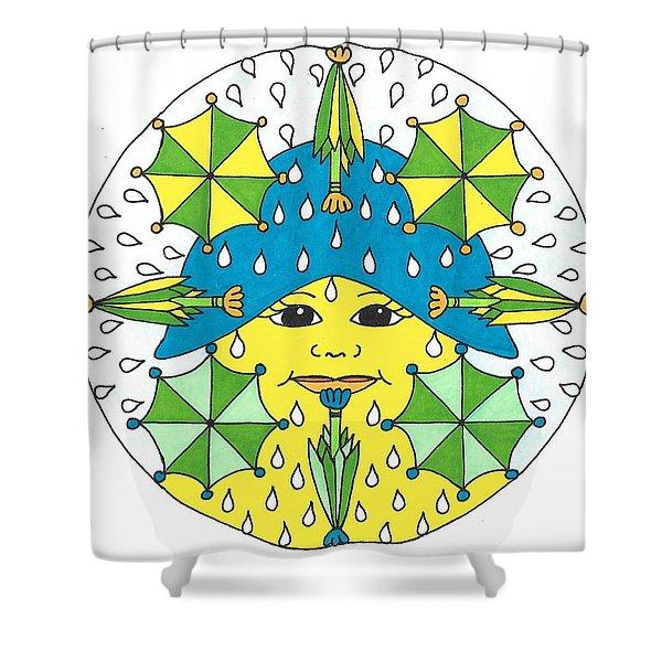 Rain Showers Shower Curtain