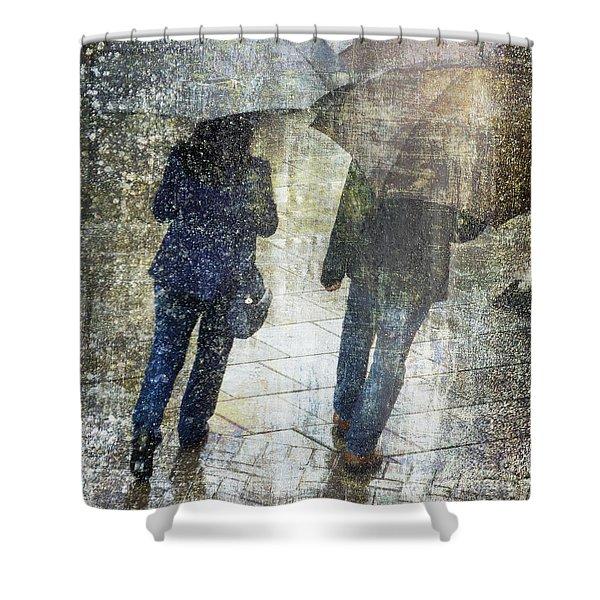 Rain Through The Fountain Shower Curtain