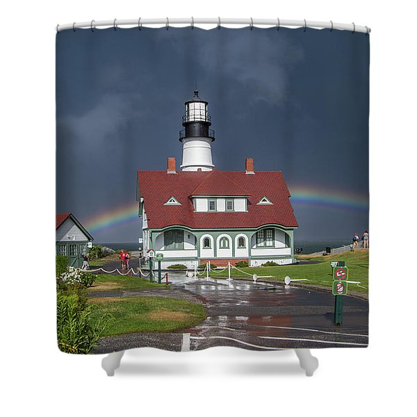 Rainbow After The Storm Shower Curtain
