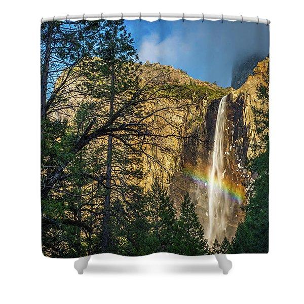 Rainbow And Bridalveil Fall Shower Curtain