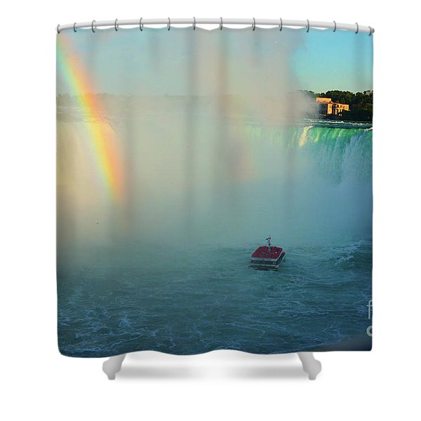 Rainbow At Horseshoe Falls Shower Curtain